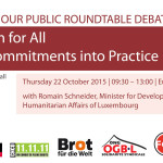Roundtable - Social Protection for All: Putting SDGs Commitments into Practice
